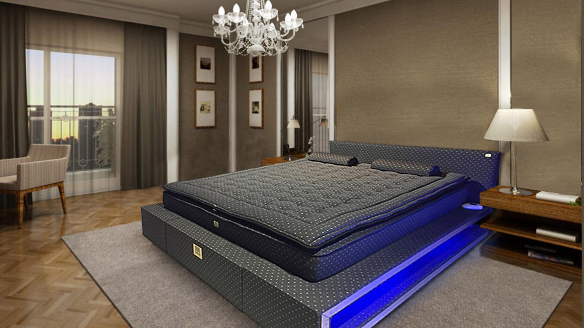 cama de agua de lujo beddesign